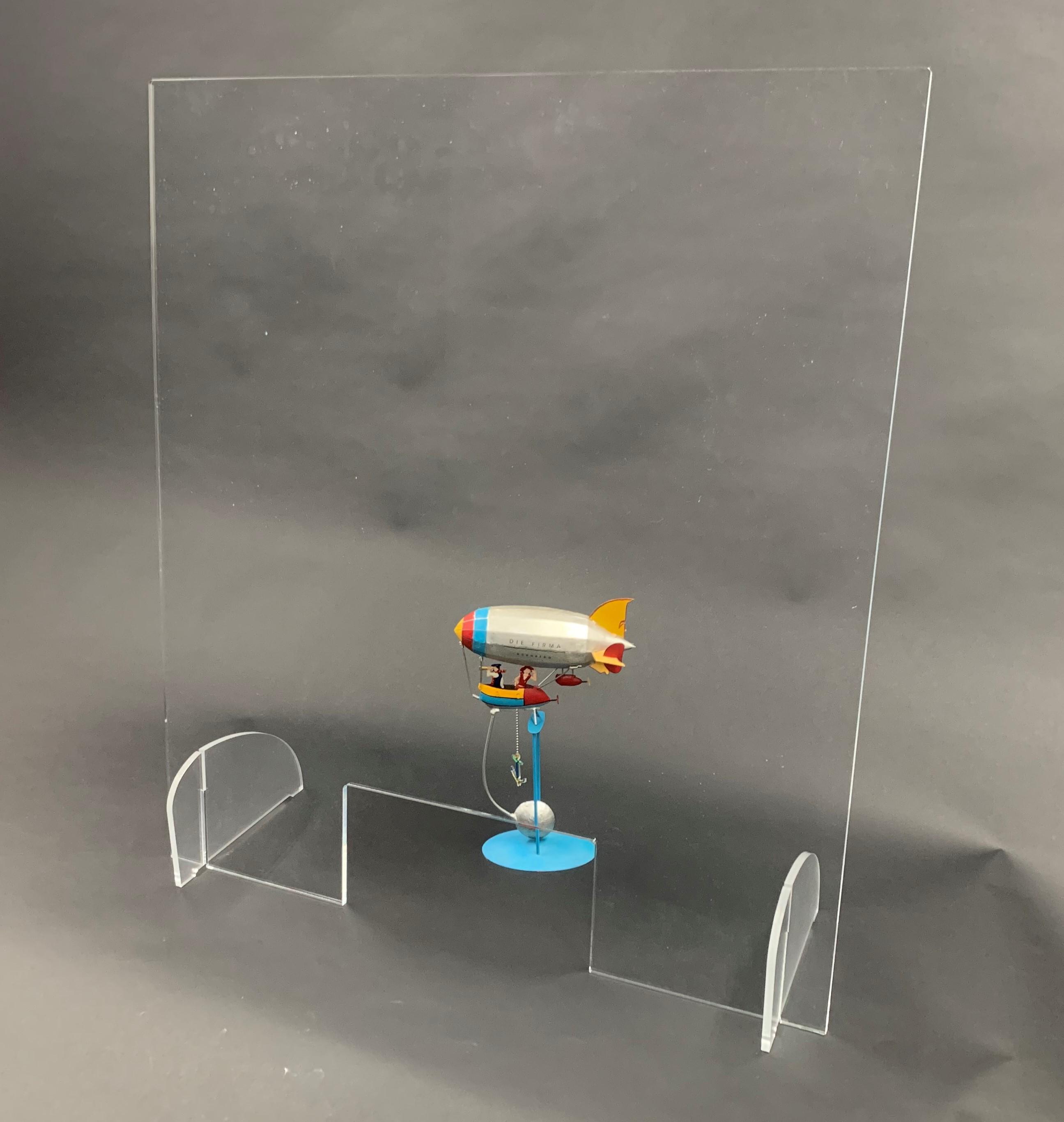 Schutzscheibe 800x900mm (bxh) Aufsteller steckbar (Werkzeuglose Montage), inkl. Durchreiche 300x150mm (bxh)